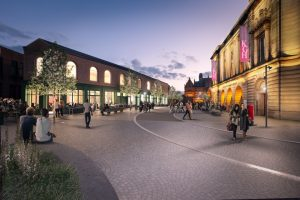 Artists' impression of Northgate as part of the Blakey Moor Townscape Heritage Project